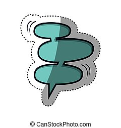 chat bubbles icon stock