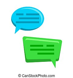 Chat Bubbles Icons Vector. Web Message. Dialog Boxes. Conversation Concept. Isolated Flat Cartoon Illustration