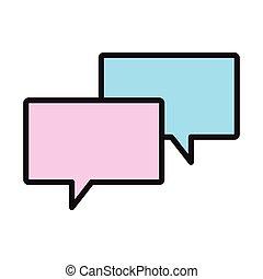 Chat bubbles symbol