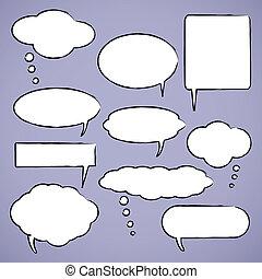 Chat bubbles vector illustration