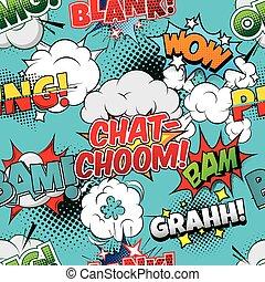 Chat-choom Seamless comics background