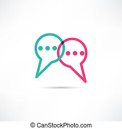 Chat concept icon