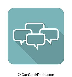 Chat conference icon, square