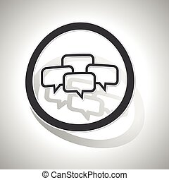 Chat conference sign sticker, curved
