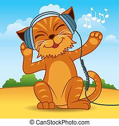 chat, dessin animé