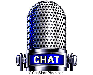 chat - microphone with a chat icon