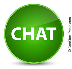 Chat elegant green round button