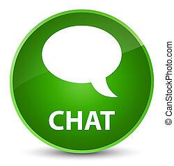 Chat elegant green round button