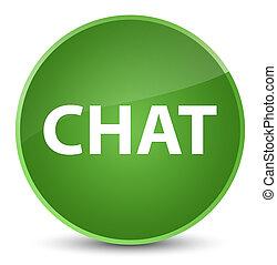 Chat elegant soft green round button