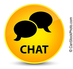 Chat elegant yellow round button
