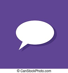 chat flat icon design vector illustration