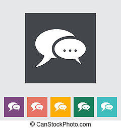 Chat flat icon.