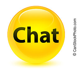 Chat glassy yellow round button