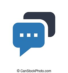 chat  glyph color icon