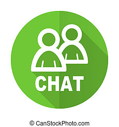 chat green flat icon