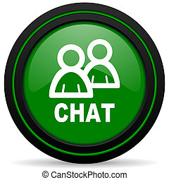 chat green icon
