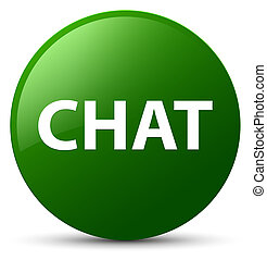 Chat green round button