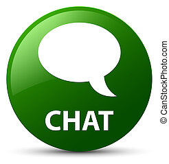 Chat green round button