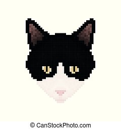 Pixel Art Chat Noir Facile