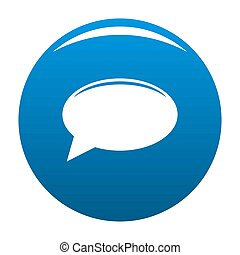 Chat icon blue