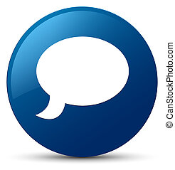 Chat icon blue round button