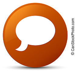 Chat icon brown round button