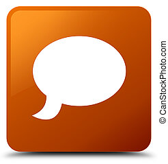 Chat icon brown square button