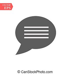 chat icon, chat icon vector, in trendy flat style isolated on white background. chat icon image, chat icon illustration