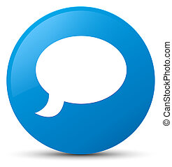 Chat icon cyan blue round button