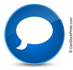 Chat icon elegant blue round button