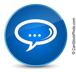 Chat icon elegant blue round button