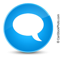 Chat icon elegant cyan blue round button