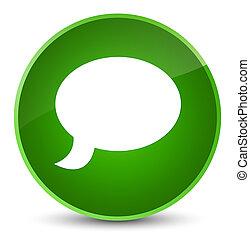 Chat icon elegant green round button