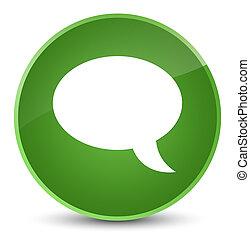 Chat icon elegant soft green round button