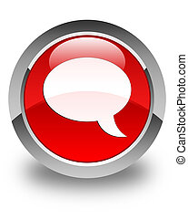 Chat icon glossy red round button