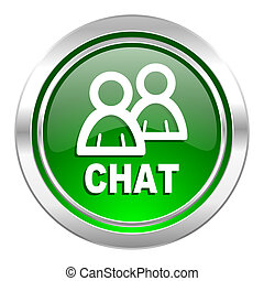 chat icon, green button