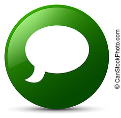 Chat icon green round button