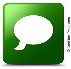 Chat icon green square button