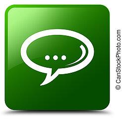Chat icon green square button