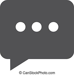 Chat icon in black on a white background. Vector illustration