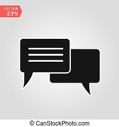 Chat Icon in trendy flat style isolated on grey background. Speech bubble symbol for your web site design, logo, app, UI. Vector illustration, EPS 10.