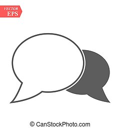 Chat Icon in trendy flat style isolated on grey background. Speech bubble symbol for your web site design, logo, app, UI. Vector illustration, EPS10.