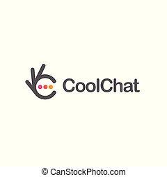 Chat icon. Ok symbol, Okay vector logo, high quality