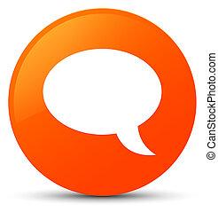 Chat icon orange round button