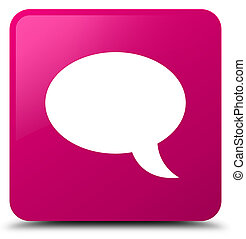 Chat icon pink square button
