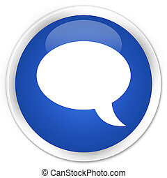 Chat icon premium blue round button