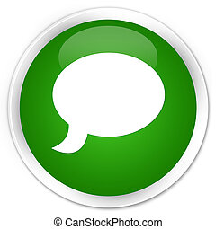 Chat icon premium green round button