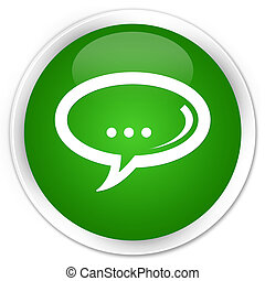 Chat icon premium green round button