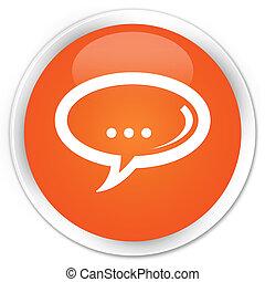 Chat icon premium orange round button
