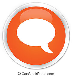 Chat icon premium orange round button